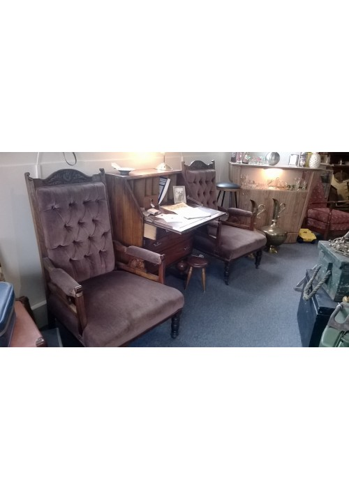 Edwardian Reading / Hall Chairs