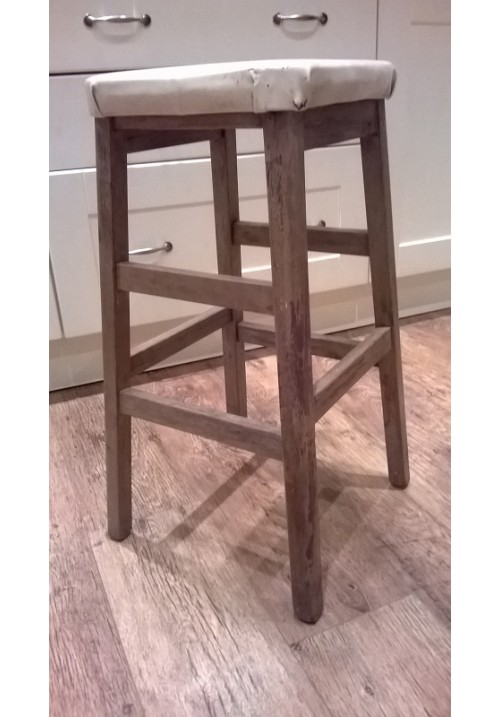 1960s 70s Vintage Wooden Stool